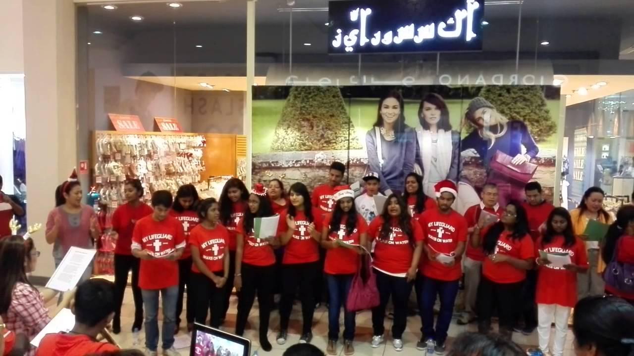Christmas Carols in Saudi Mall near Geant