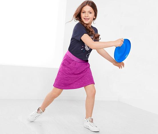 Girls Sweat Skirt Fuchsia