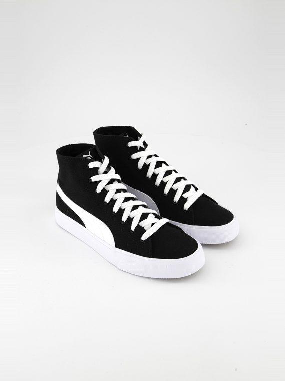 Juniors Bari Mid Shoes Black/White