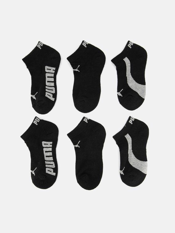 Kids Boys 6-Pack Premium Low Cut Sock Black/Gray