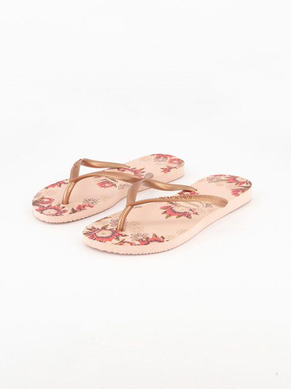 Kids Girls Style 2 Slim Organic Flip Flop Ballet Rose