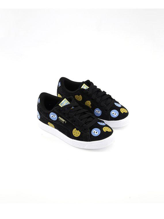 Kids Sesame Street 50 Suede Sneaker Black