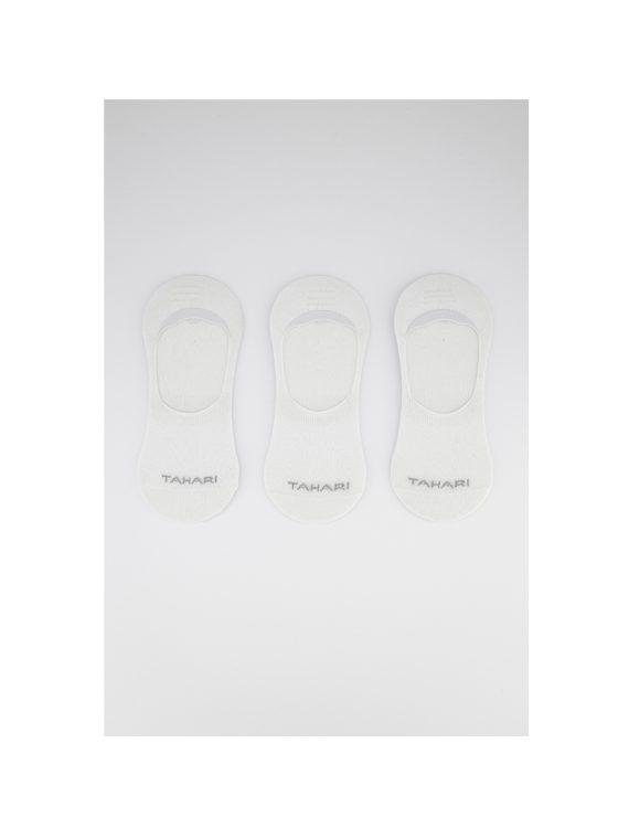 Mens 3-Pack Invisible Socks White