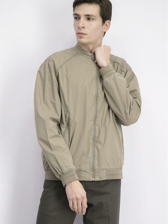 Mens Front Zipper Pockets Jackets Grant Beige
