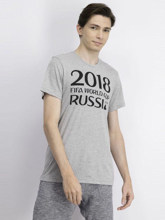 Mens Graphic Logo Type T Shirt Grey