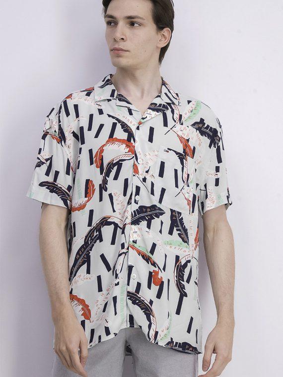 Mens Graphic Print Shirt Mint