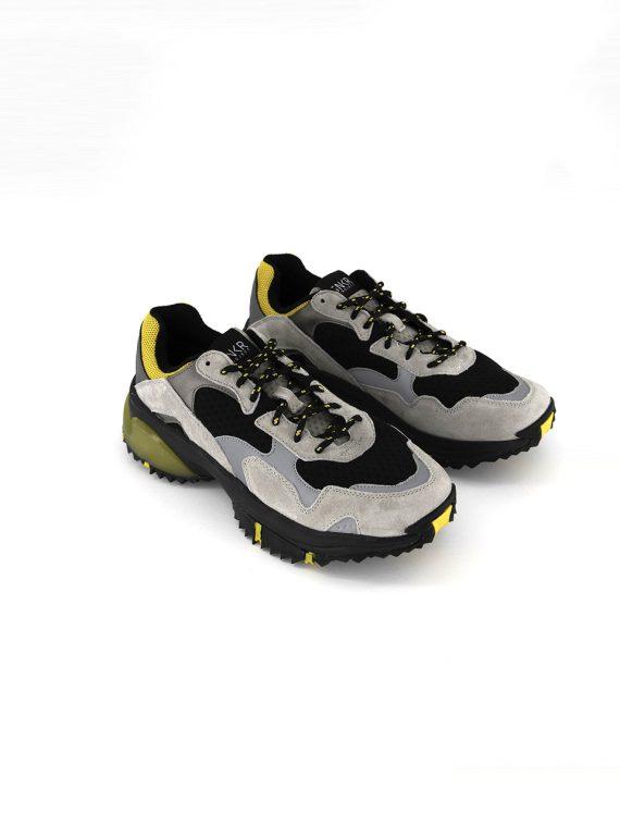 Mens Prospect Park Shoes Grey/Black/Yellow