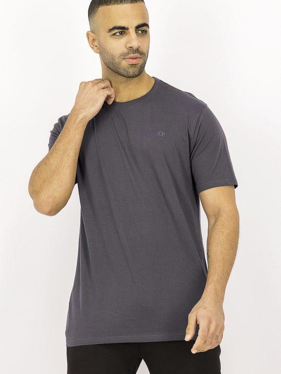 Mens Short Sleeve Cotton T-Shirt Charcoal
