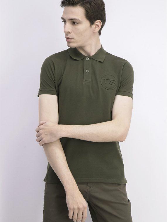 Mens Short Sleeve Polo Shirt Olive Night