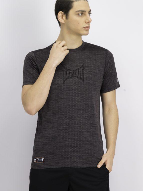 Mens Space Dye Mesh Logo Shirt Black