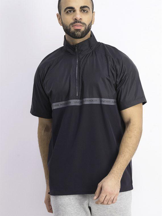 Mens Unstoppable Woven 1/2 Zipper Shirt Black