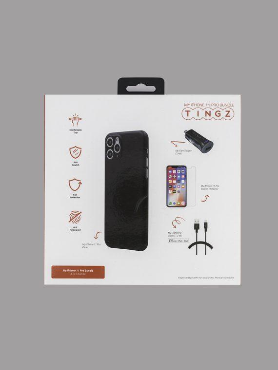 My iPhone 11 Pro 4-in-1 Bundle Accessories Black/Transparent/Grey