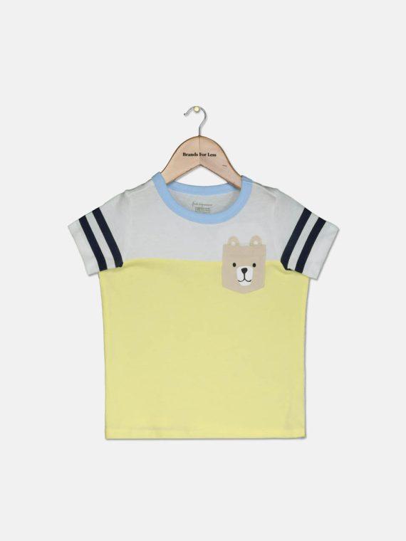 Toddler Boys Bear Pocket Cotton T-Shirt Sundrop