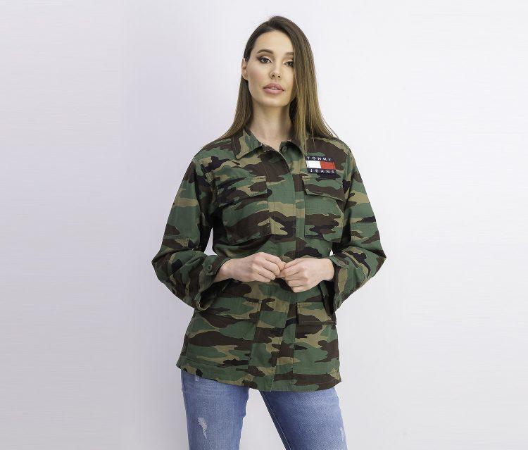 Womens Camo Jacket Green Combo