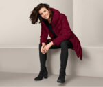 Womens Hooded Quilted Coat Red
