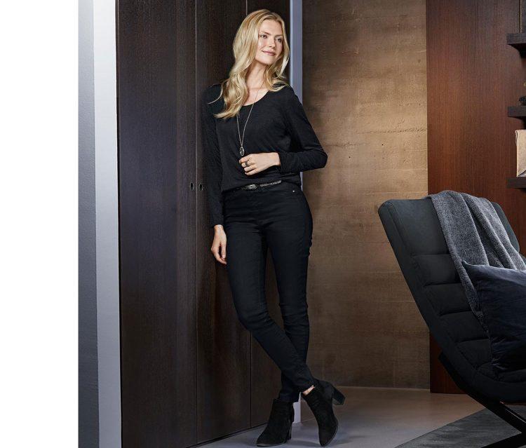 Womens Long Sleeve Blouse Black