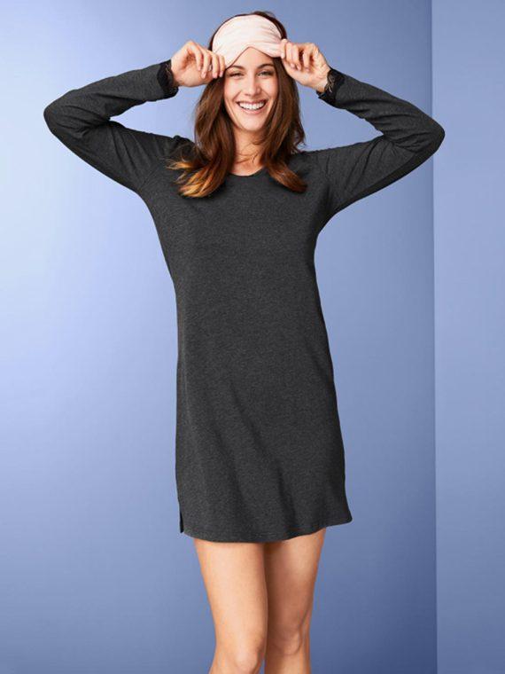 Womens Nightgown Heather Grey