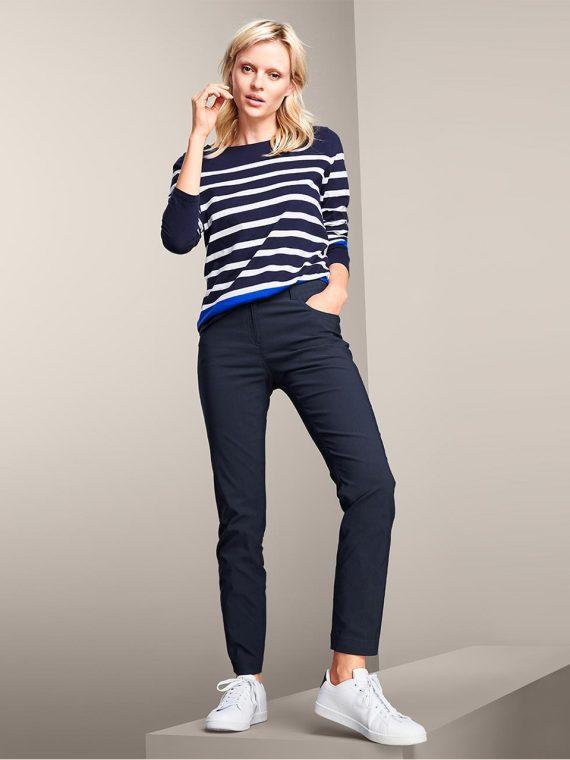 Womens Plain Pants Dark Blue