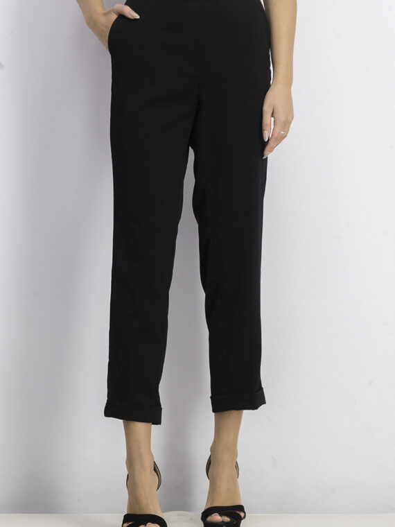 Womens Pull-On Straight Leg Pant Black