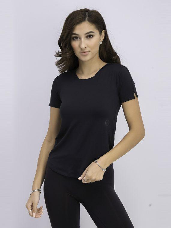 Womens Rush Run Heat Gear Short Sleeve T-shirt Black
