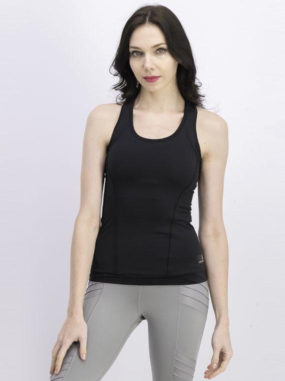 Womens Sleeveless Performance Tank Top Black