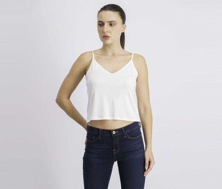 Womens Sleeveless Top White